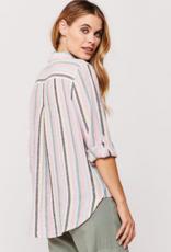 Velvet Heart Elisa Lurex Stripe Button Up Shirt