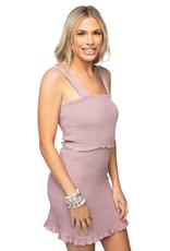 Buddy Love Monroe Smocked Mini Dress