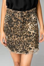 Buddy Love Sharon Leopard Denim Skirt
