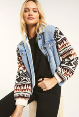 Z Supply Gia Knit Denim Jacket