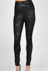 High Waist Camo Faux Leather Legging