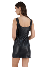 BB Dakota Rock City Vegan Leather Mini Dress