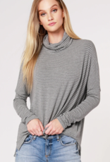 Bobi Drop Sleeve Turtleneck Top
