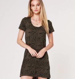 Bobi Zebra T-Shirt Dress