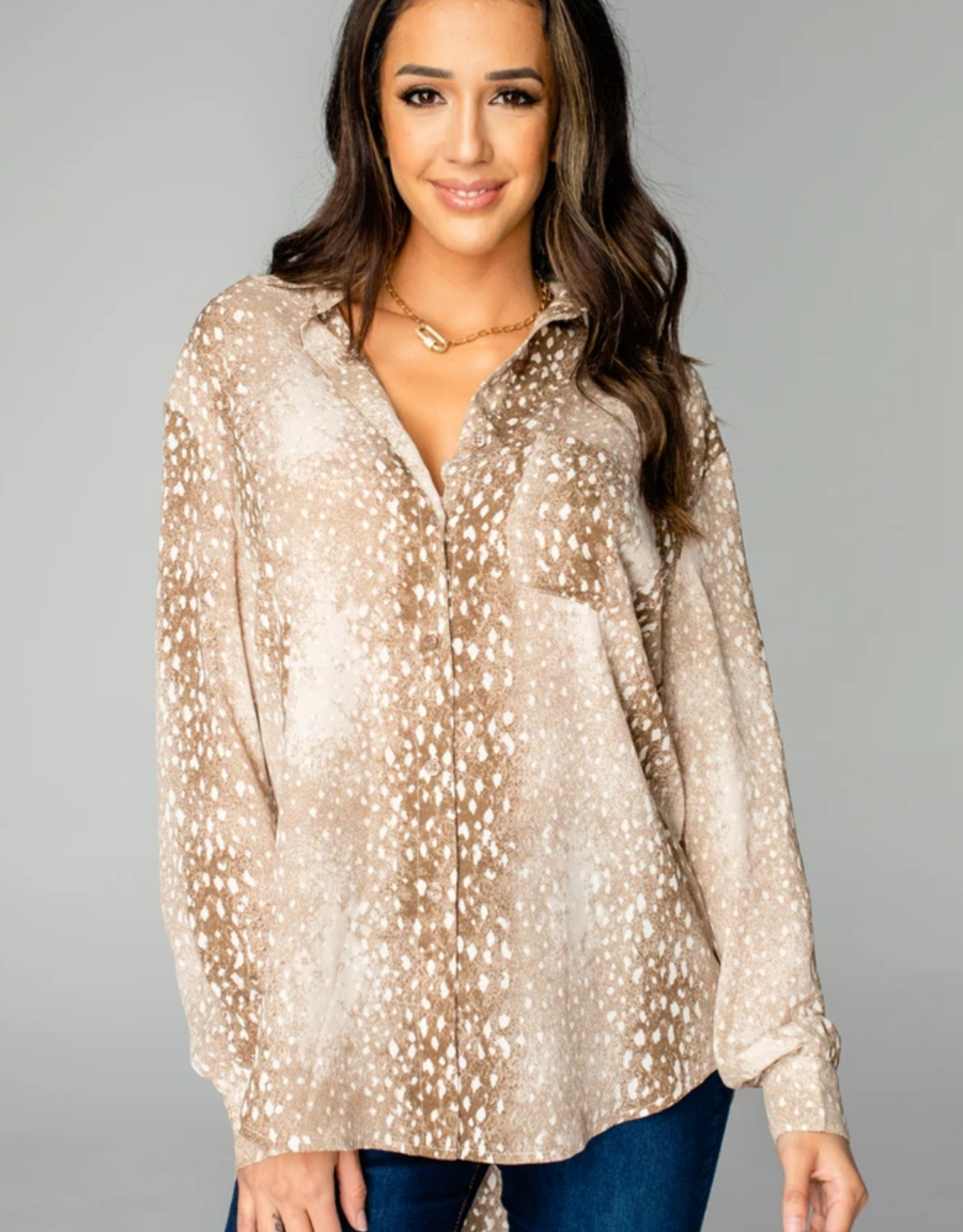 Buddy Love Portia Loose Button Up Top
