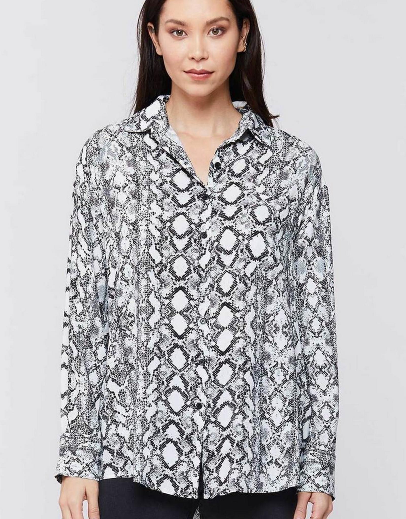 Velvet Heart Olivine Snake Button Up Shirt
