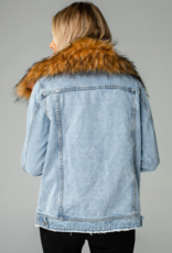 Buddy Love Hazel Jean Jacket With Fur