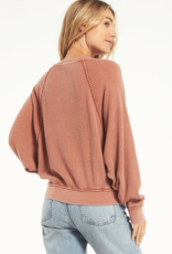 Z Supply Claire Waffle Long Sleeve Top