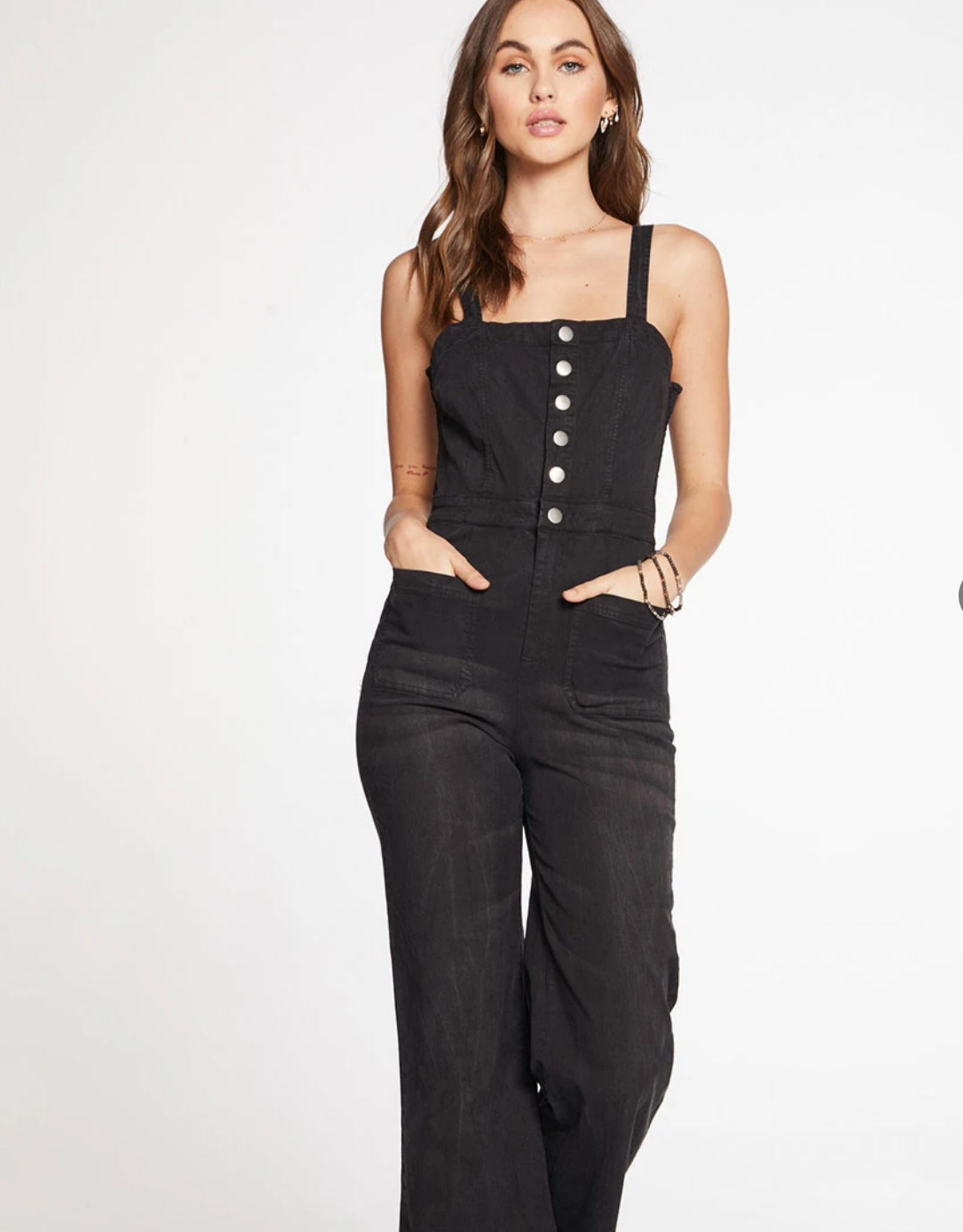 Chaser Button Down Wide Leg Jumpsuit