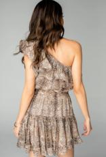 Buddy Love Sofia One Shoulder Ruffled Dress