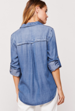 Velvet Heart McKenna Star Embroidery Button Up Shirt