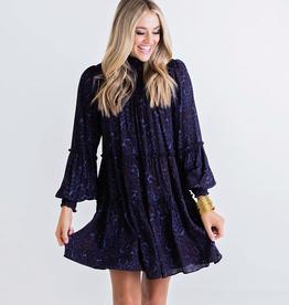 Karlie Leopard Smocked Tier Dress