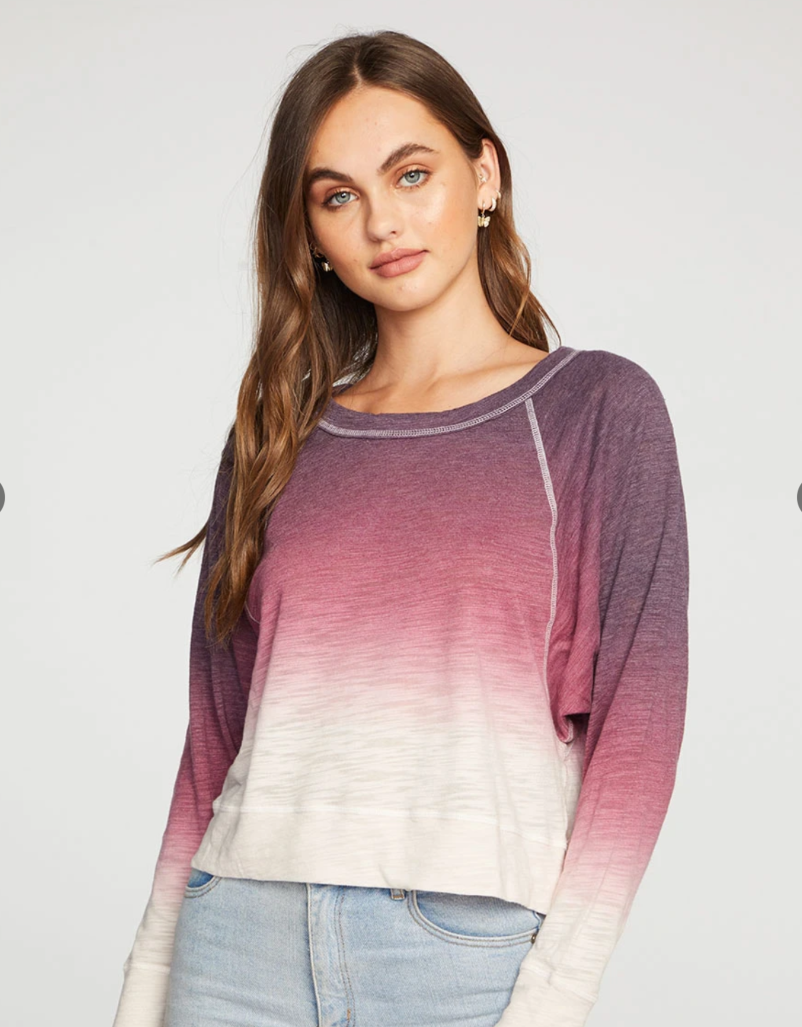 Chaser Cropped Boxy Long Sleeve Pullover