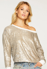 Chaser Sequin Long Sleeve Pullover