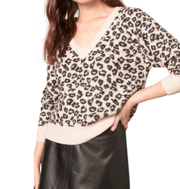 Cupcakes & Cashmere Monroe Leopard Sweater