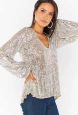 Show Me Your Mumu Chelsea Sequin Top