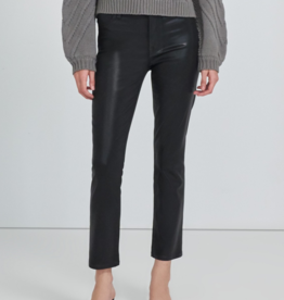 J Brand Alma Coated High Rise Straight Jeans