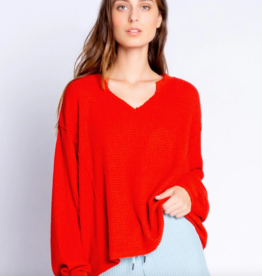 PJ Salvage Morning Waffles Long Sleeve Top