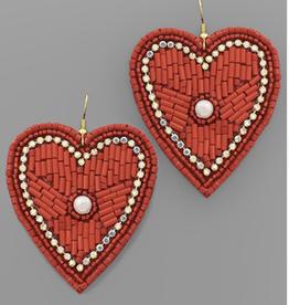 Pearl & Beaded Heart Earrings