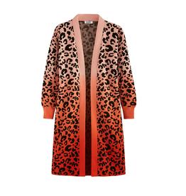 525 Leopard Dip Dye Duster Cardigan