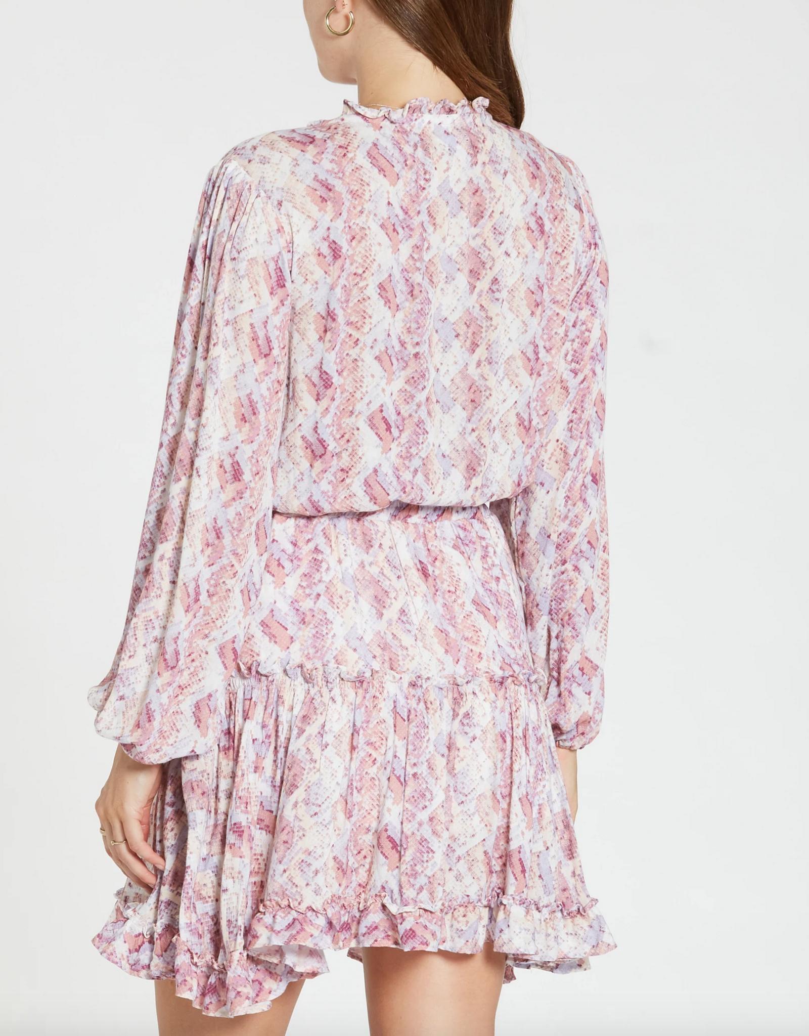 Dear John Abella Snake Print Dress