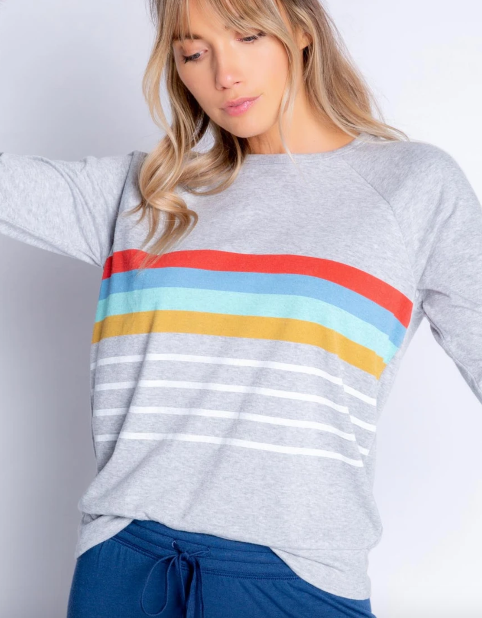 PJ Salvage Retro Stripe Long Sleeve Top