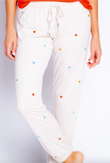 PJ Salvage Retro Heart Banded Pant