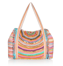 America & Beyond Vibrant Confetti Embellished Tote