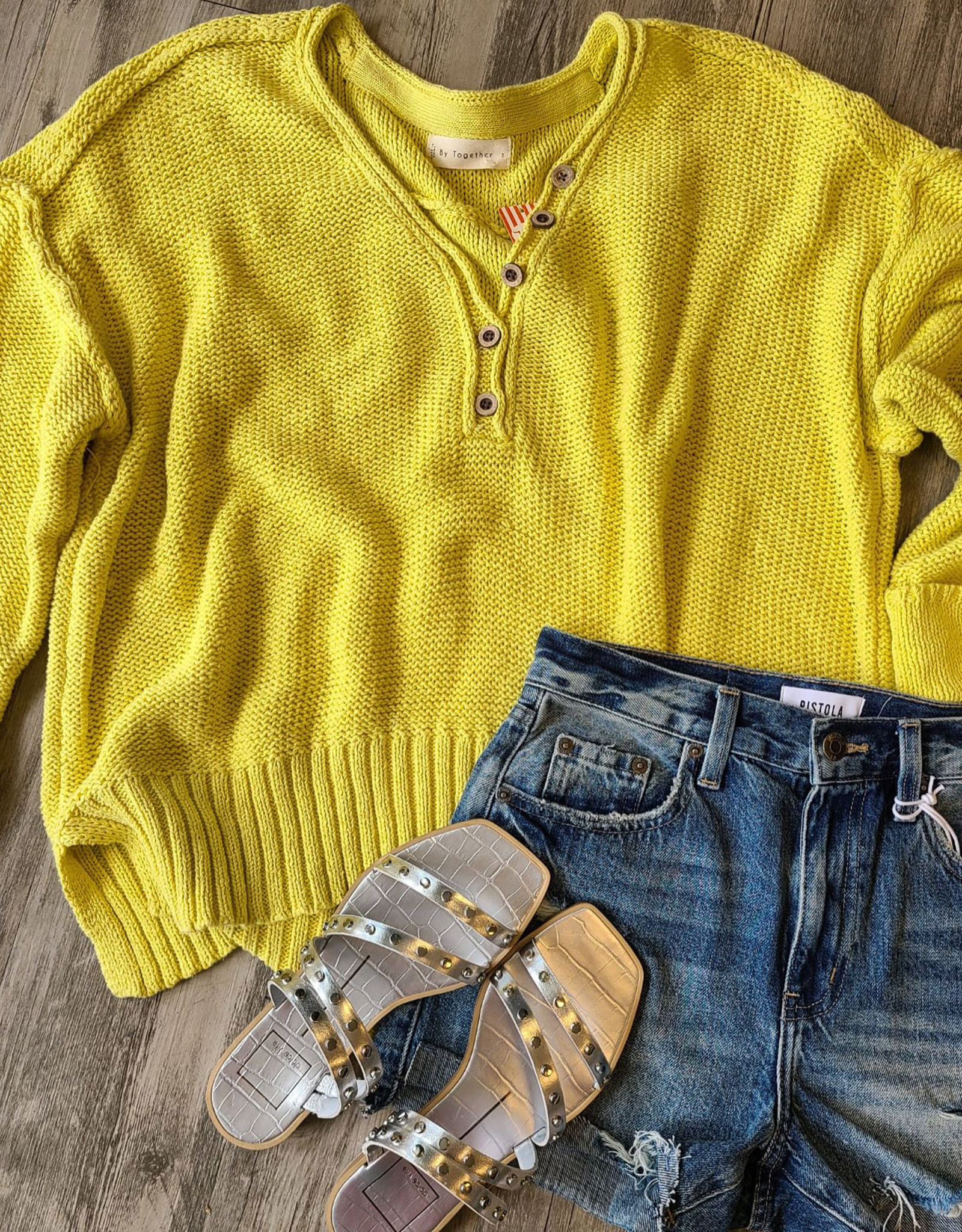 By Together Button Down Knit Sweater