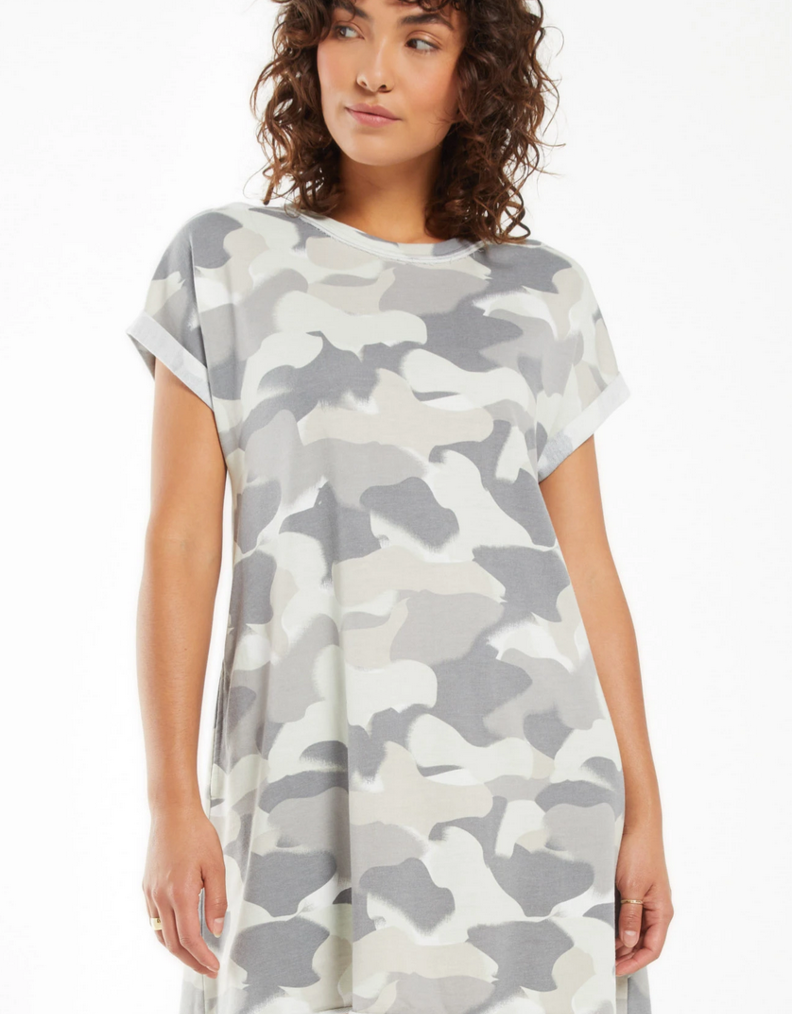 Z Supply Agnes Painted Camo Terry Dress