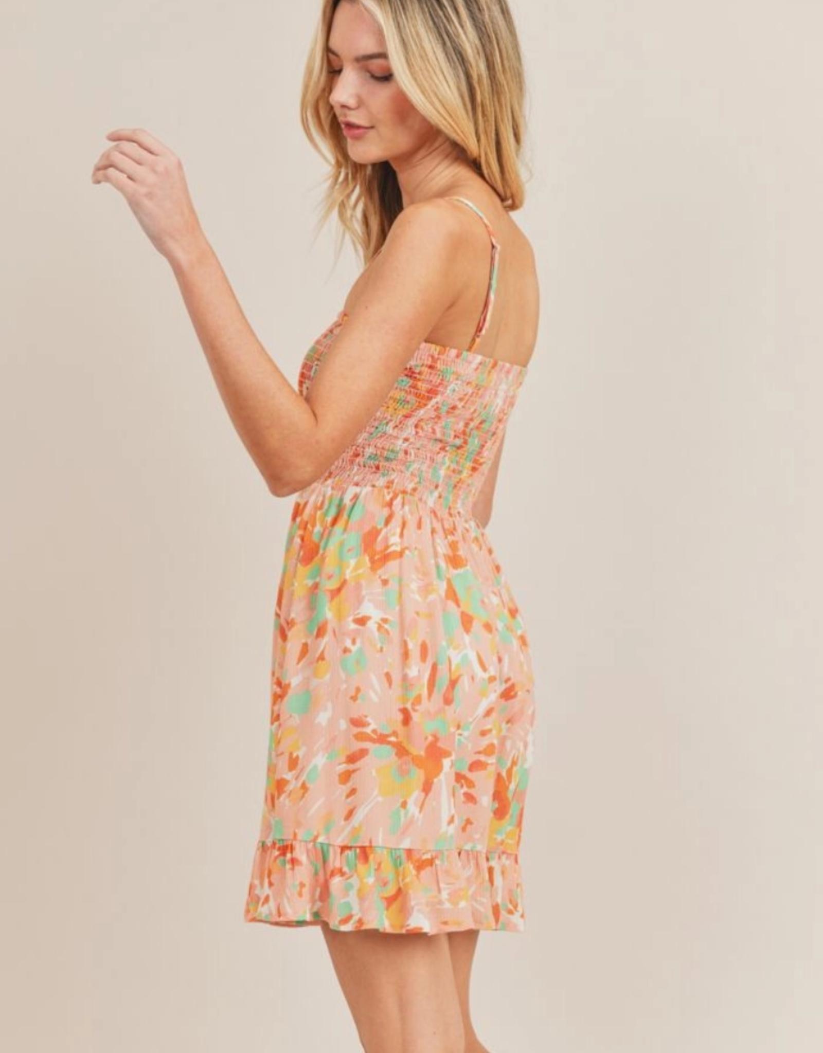 Spread Of Joy Smocked Mini Dress