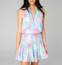 Buddy Love Sage Tie Waist Mini Dress