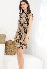 Smocked Waist Printed Dress