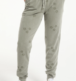Z Supply Goldie Embroidered Star Jogger