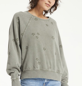 Z Supply Bo Embroidered Star Sweatshirt