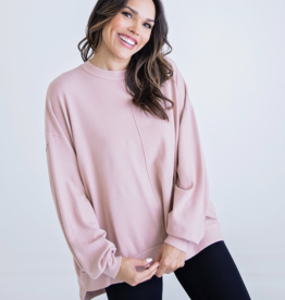 Karlie Solid Oversized Sweater Tunic