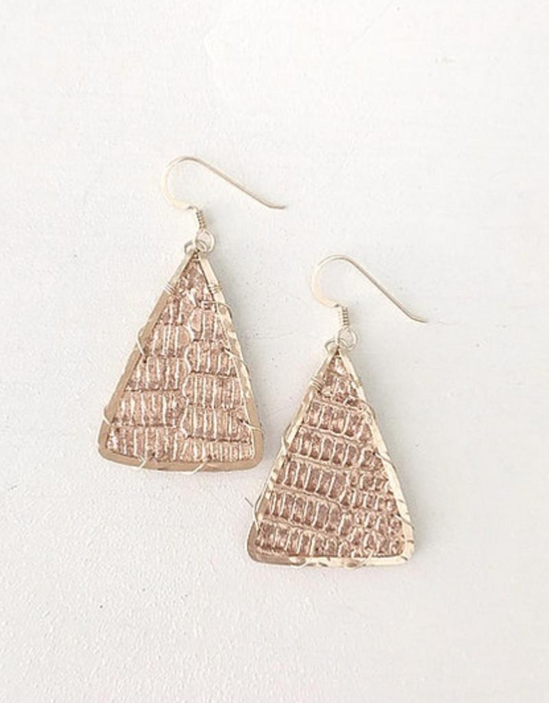 Little Fish Boateak Mast Triangle Earrings