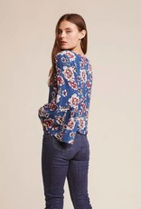 Jack by BB Dakota Meet Me There Floral Bell Sleeve Button Back