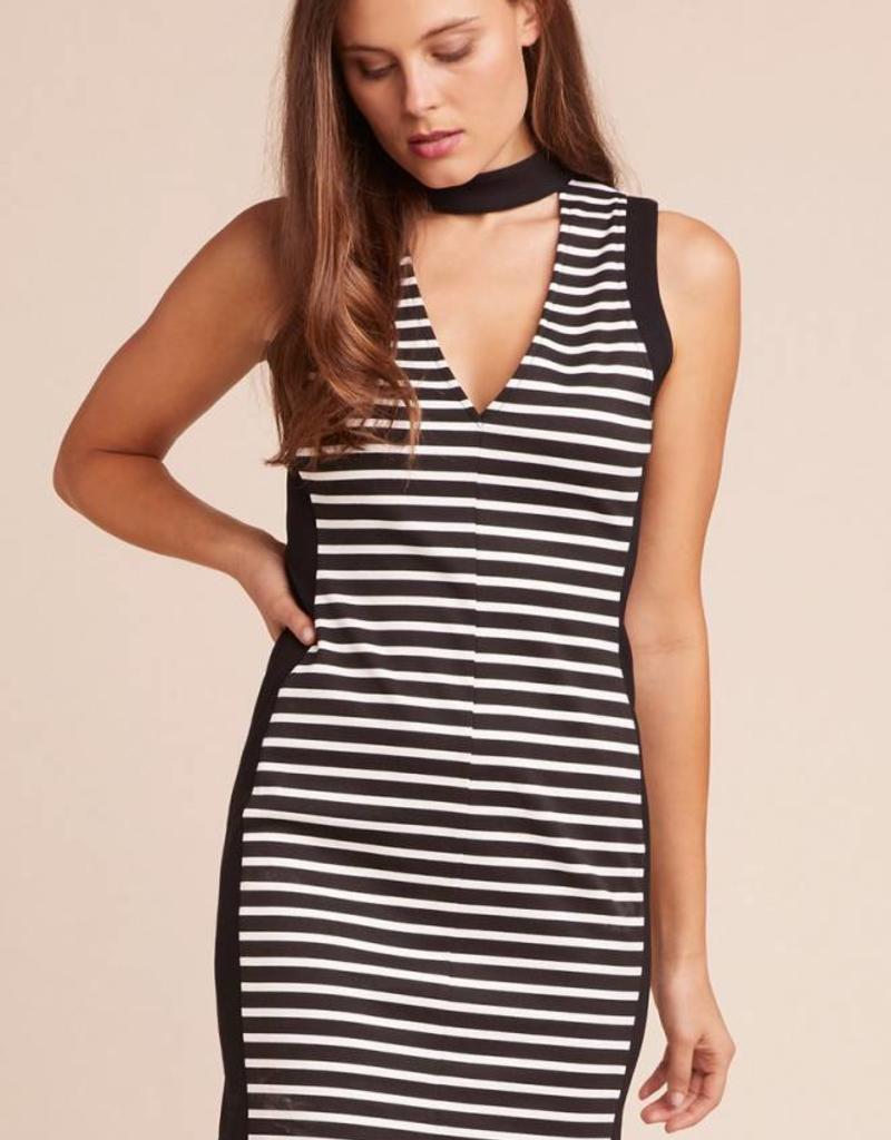 Jack by BB Dakota For Your Love Choker Neck Striped Dress