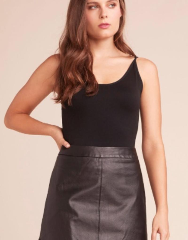 BB Dakota Conrad Leather Scoop Bottom Skirt