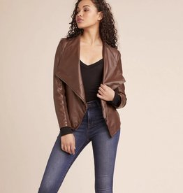 BB Dakota Gabrielle Asymmetrical Zip Faux Leather Jacket