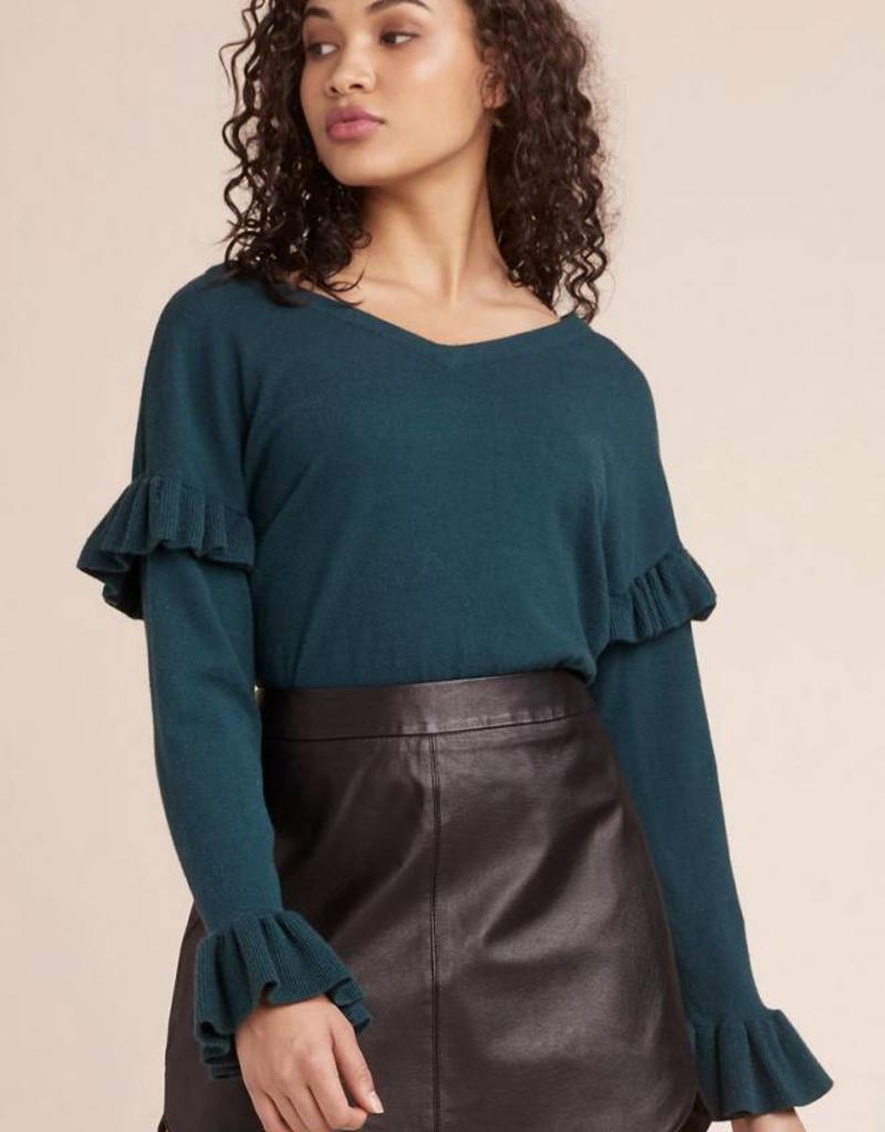 BB Dakota Out to Lunch V-neck Ruffle Sleeve Sweater