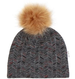 Miles Baby Miles Baby - Chevron Grey Patterned Hat