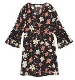 Mini Molly Mini Molly - Floral Lightweight Dress w Flaired Sleeve
