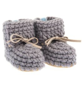 Beba Bean Beba Bean - Grey Sweater Moccs