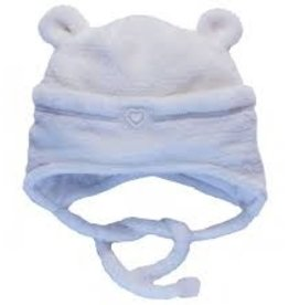 Calikids Calikids Winter - Soft Fleece Hat w Ears and Tie - Cream