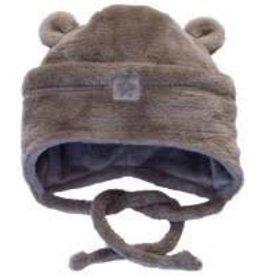 Calikids Calikids Winter - Soft Fleece Hat w Ears and Tie - Brown