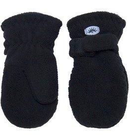 Calikids Calikids - Black Fleece Mittens w Velcro