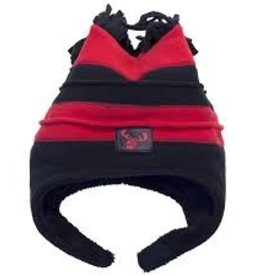 Calikids Calikids - Two Tone Fleece Hat w Velcro - Red/Black