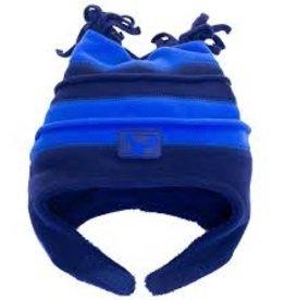 Calikids Calikids - Two Tone Fleece Hat w Velcro - Royal/Navy